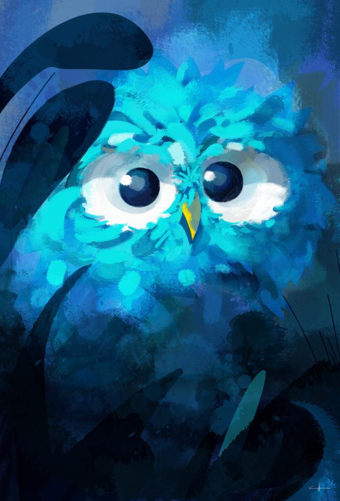 Peinture Blue owl