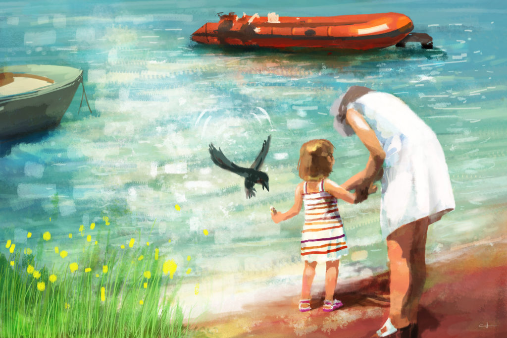 Peinture Here is the bird